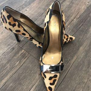 Nine West cheetah print buckle heels 8.5